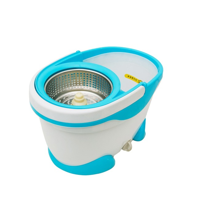 Spin mop with water outlet easy cleaning magic mop